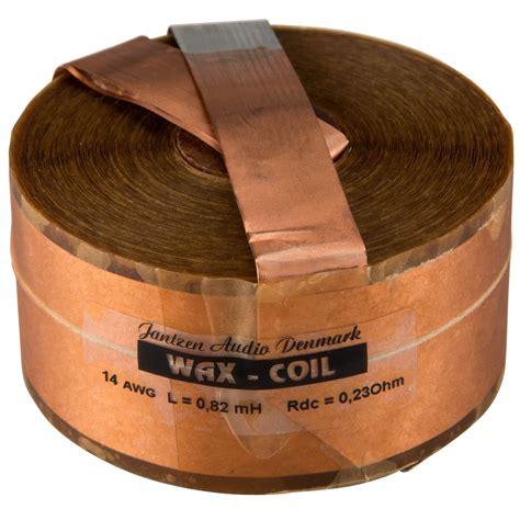 jantzen wax inductor jantzen audio 0 82mh 14 awg copper foil wax coil crossover coil