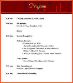 concert program templates sle event program wedding event program word template