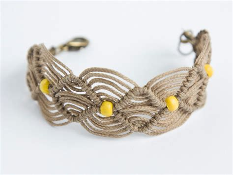 Macrame Rope - items similar to friendship macrame cord bracelet with