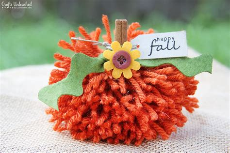 fall crafts with fall crafts simple diy yarn pom pom pumpkins