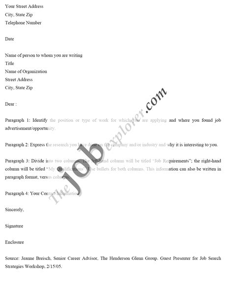 sle application letter template doc 28 sle email cover letter for application