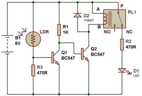 light sensor circuit using ldr how to use a relay electronics lab