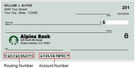 how to find your bank routing number alpine bank routing number and code how to wire