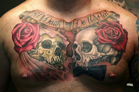tattoo chest skull skull chest tattoo bad ass tattoos pinterest