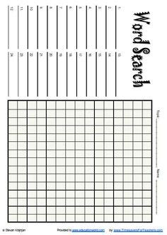 printable word search blank free printable blank word search puzzle grid for teachers