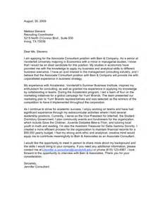 Cover Letter Consulting Sample   Experience Resumes