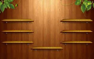 wooden shelves wallpaper