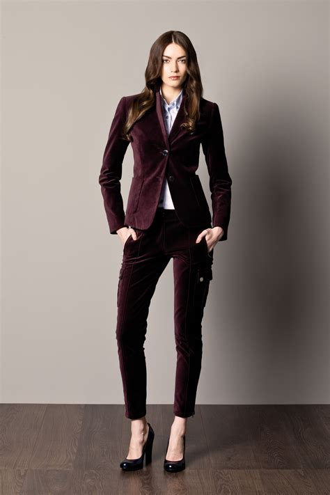 Blouse Brukat Mng Suit Maroon velvet burgundy s suit and shirt with stripes a w