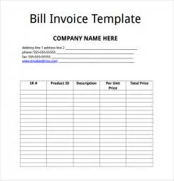 Billing Invoice Template Free by Billing Invoice Template 8 Free Sles Exles Format