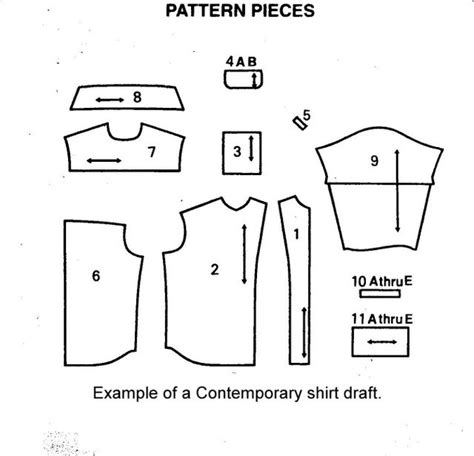 pattern drafting men s shirt off the cuff sewing style contemporary shirt draft