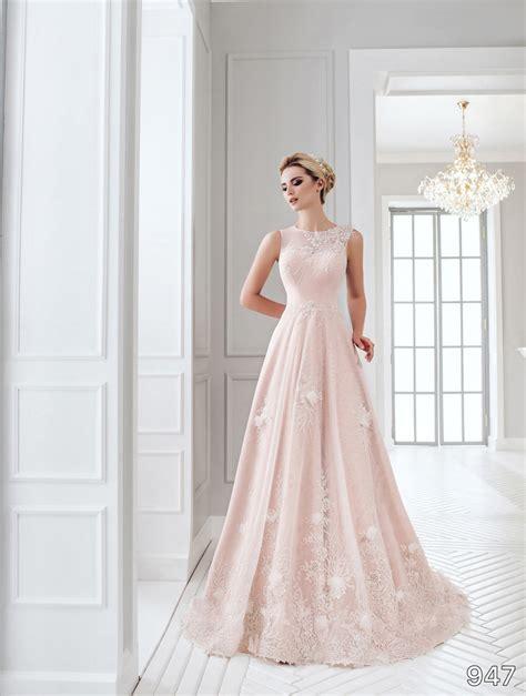 Soft Pink Wedding Gowns by Dress Sans Pareil Bridal Collection 2016 947 Soft