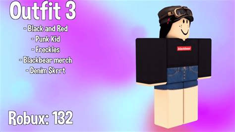 awesome roblox outfits   robux youtube
