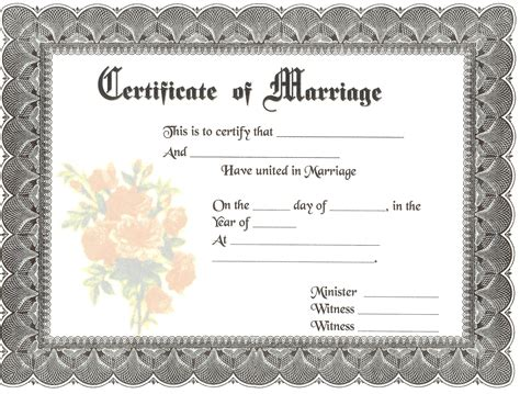 Marriage Records Blank Marriage Certificates Blank Marriage