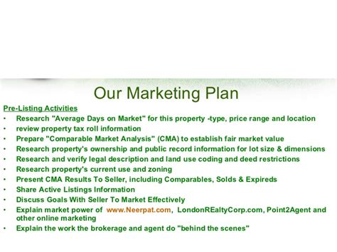 commercial real estate marketing plan template free real estate listing presentation