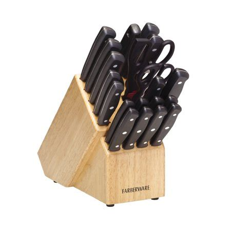 farberware kitchen knives farberware 21 riveted knife set walmart com