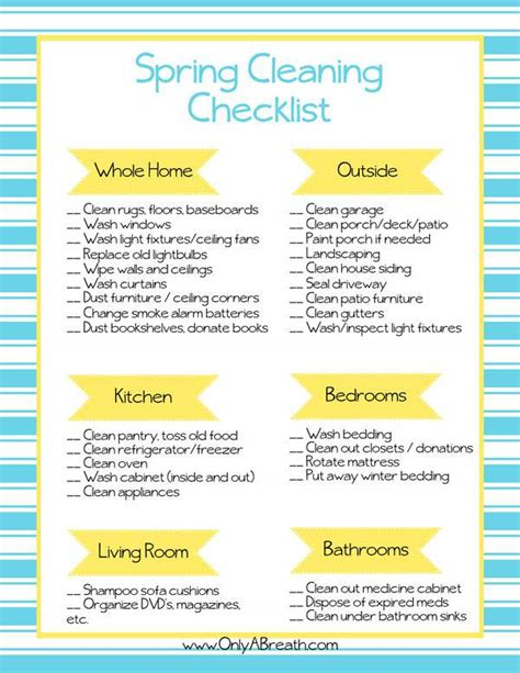 house spring cleaning tips checklist printable html spring cleaning checklist printable