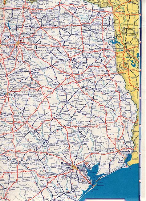 east texas map texasfreeway gt statewide gt historic information gt road maps