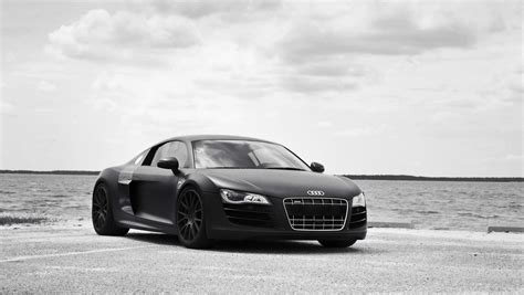 audi r8 wallpaper matte audi r8 matte black wallpaper image 506