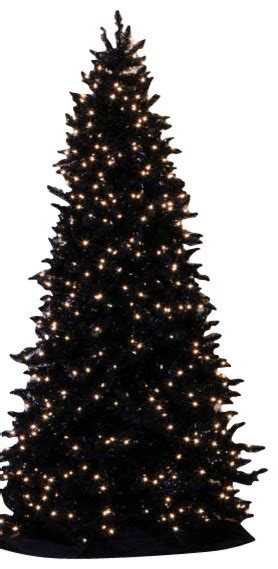 pre lit slim black ashley spruce artificial christmas tree