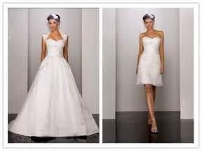 my wedding dress 2 in 1 wedding dresses one dress two