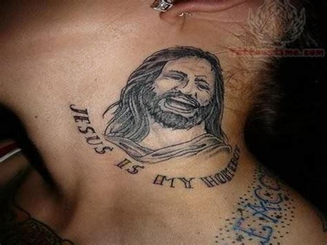 jesus tattoo neck 49 impressive religious neck tattoos