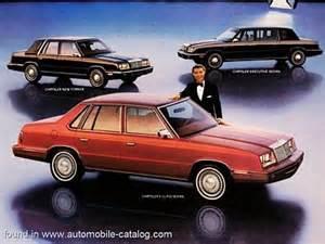 Chrysler E 1984 Chrysler Usa E Class Sedan Range Specs
