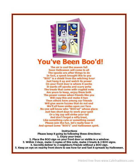 printable boo directions free printable boo poem and boo signs