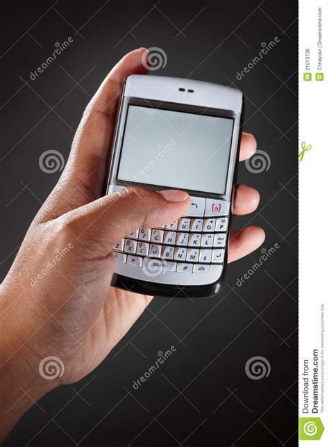 wallpaper hp qwerty hand holding qwerty handphone royalty free stock image