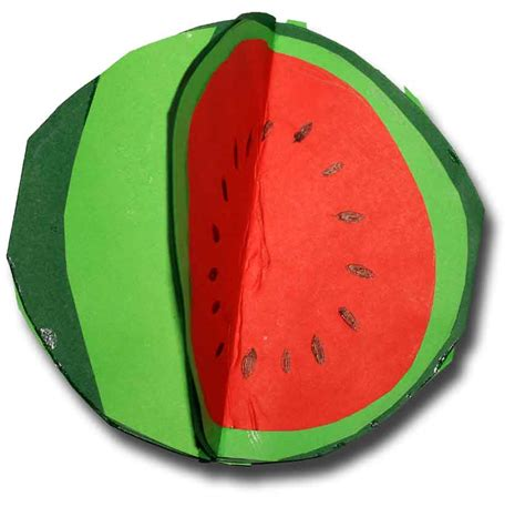 Watermelon Paper Craft - paper crafts for children 187 watermelon card