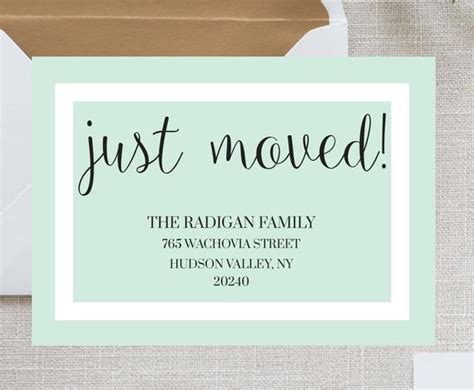 We Moved Card Template Moving Announcement Card We Ve We Moved Announcements Templates
