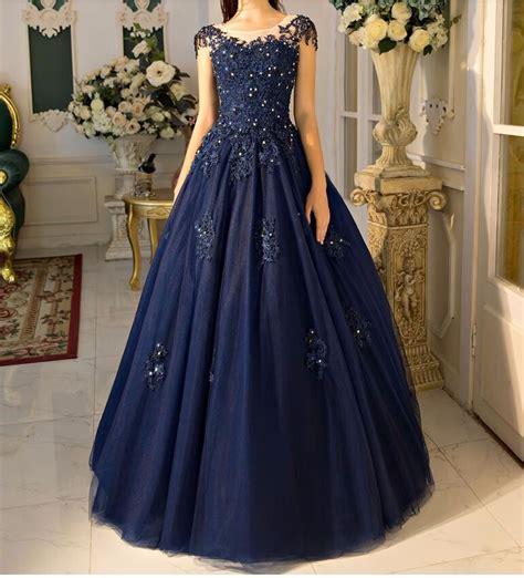navy blue ball gown prom dress aliexpress com buy elegant navy blue ball gown prom