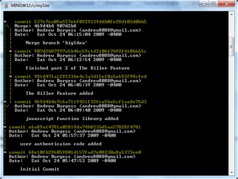 tutorial giggle git linux why isn t quot git log graph quot working stack