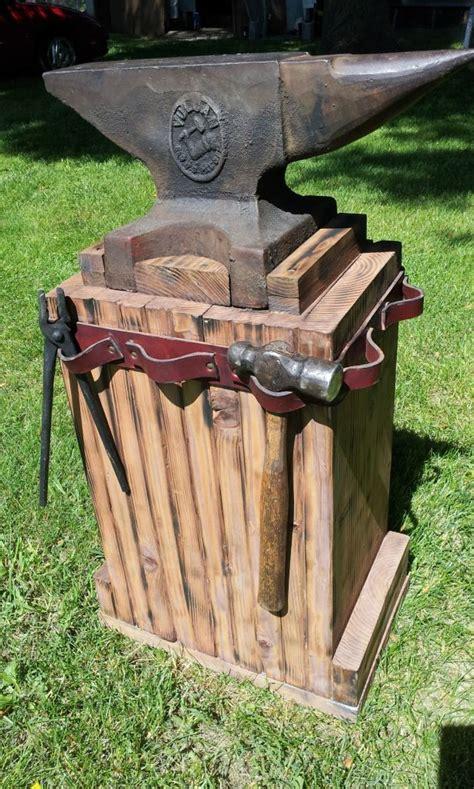 Handmade Forge - anvil stand blacksmithing