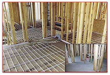 pex hydro radiant flooring depth on existing slab radiant floor hydronic heat wood burning furnace boiler