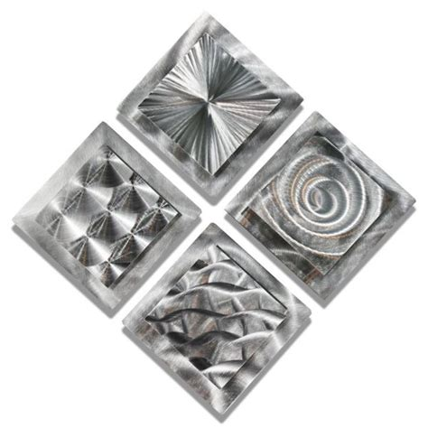 Set Of 4 Metal Wall