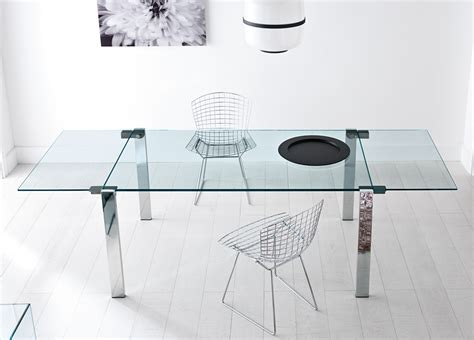 Round Dining Room Sets tonelli livingstone extending glass dining table