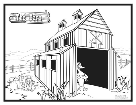 easy barn coloring pages simple barns colouring pages page 2