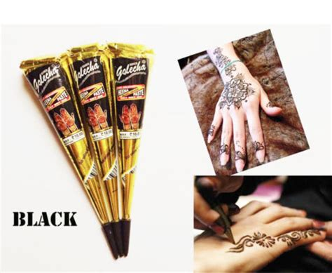 black henna tattoo kits 12 x 2 brown black white henna paste cones kit my
