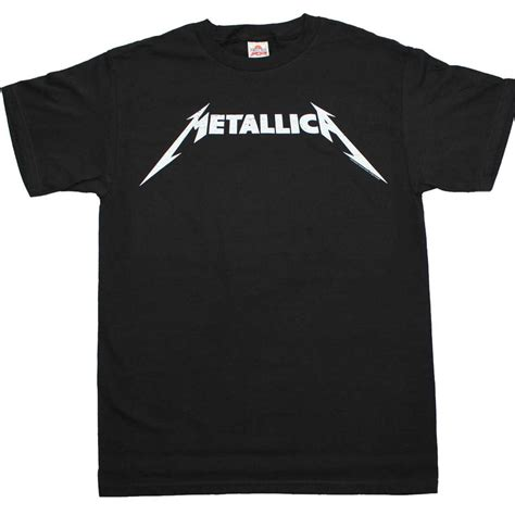 Metallica T Shirt White metallica t shirt metallica black and white logo t shirt