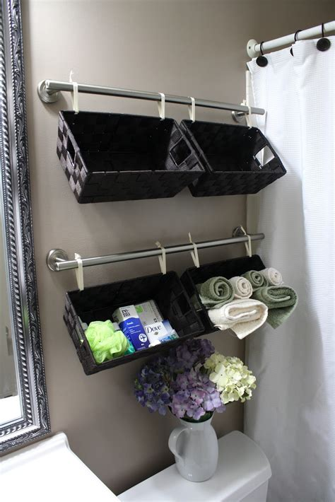 what to put in a bathroom basket for a wedding simply diy 2 a tisket a tasket a wall full of baskets