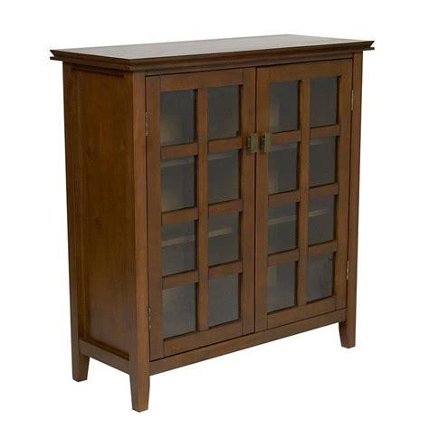 simpli home artisan medium storage cabinet simpli home axchol007 artisan medium storage unit