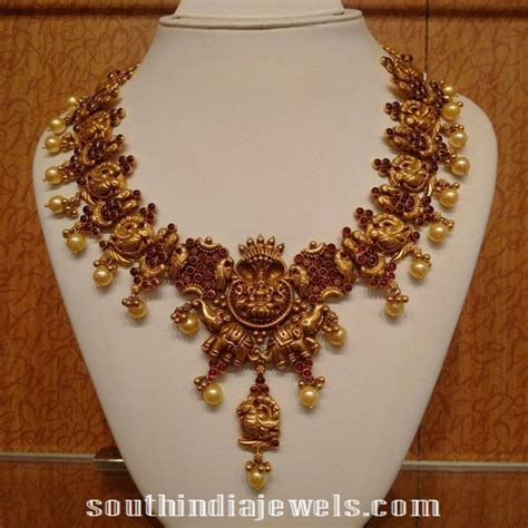 Jewellery Gold Design Angti by Ruby Nakshi Necklace Design Necklaces And Of