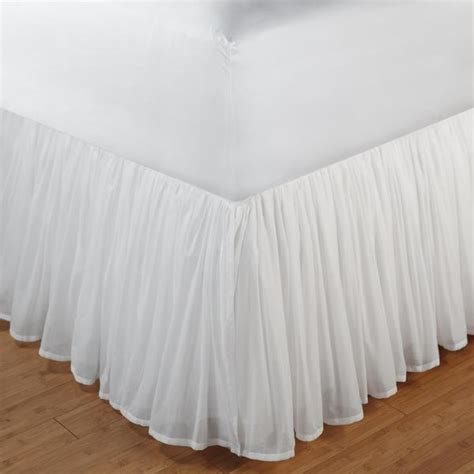 bed skirt full greenland home cotton voile bed skirt full closeoutlinen