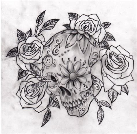 tattoo design drawings tumblr sugar skull tattoos small skull tattoos