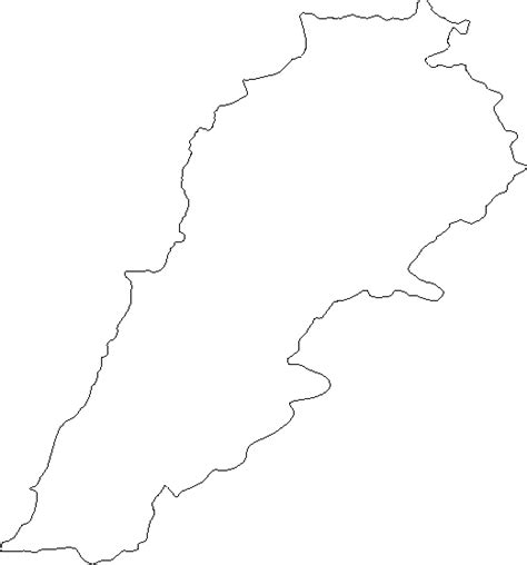 lebanon map coloring page level 4 country shapes memrise