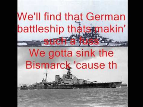 Where Did The Bismarck Sink by Johnny Horton Sink The Bismarck With Lyrics