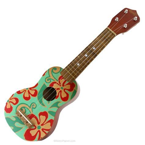 flower design ukulele floral ukulele hawaiian decoration toy green and red