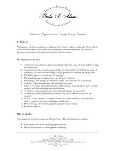 interior design services agreement 10 best images of standard letter of agreement sle