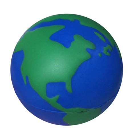 Earth Squeeze Blue squeeze walking earth globe stress balls custom printed