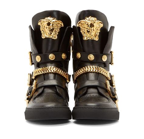 sneakers versace versace black leather chain sneakers here is one of the